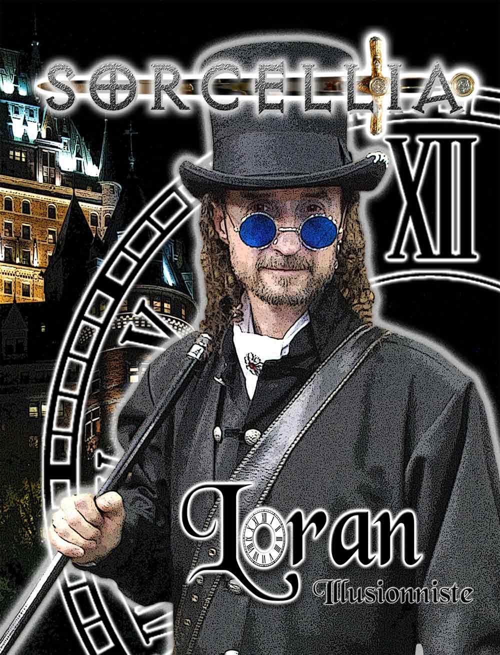 Loran magician illusionist, Sorcellia magic shows